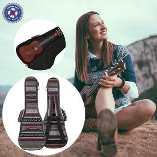 21 23 26 Inch National Style Canvas Ukulele Carry Bag Cotton Padded Double Strap Case for Ukulele