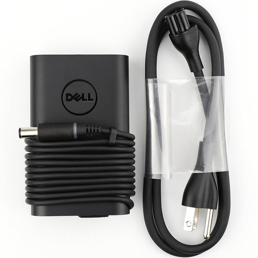 Sạc laptop Dell chính hãng 65W chân tròn to mẫu Oval mới nhất - tặng kèm dây nguồn