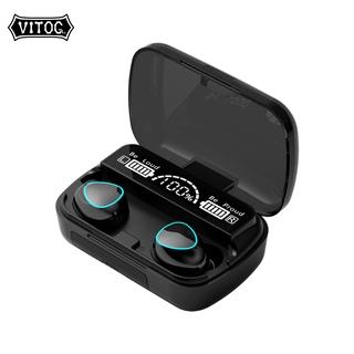 Tai Nghe TWS Vitog M10 3500mah Kết Nối Bluetooth Không Dây Âm Thanh Nổi Điều Khiển Cảm Ứng Không Thấm Nước Màn Hình LED