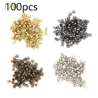 JUNE 100pcs Super Small Mini Toys Round Bead Metal Buckle
