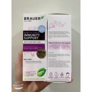 Tăng đề kháng Brauer Immunity Support cho bé, Mẫu mới