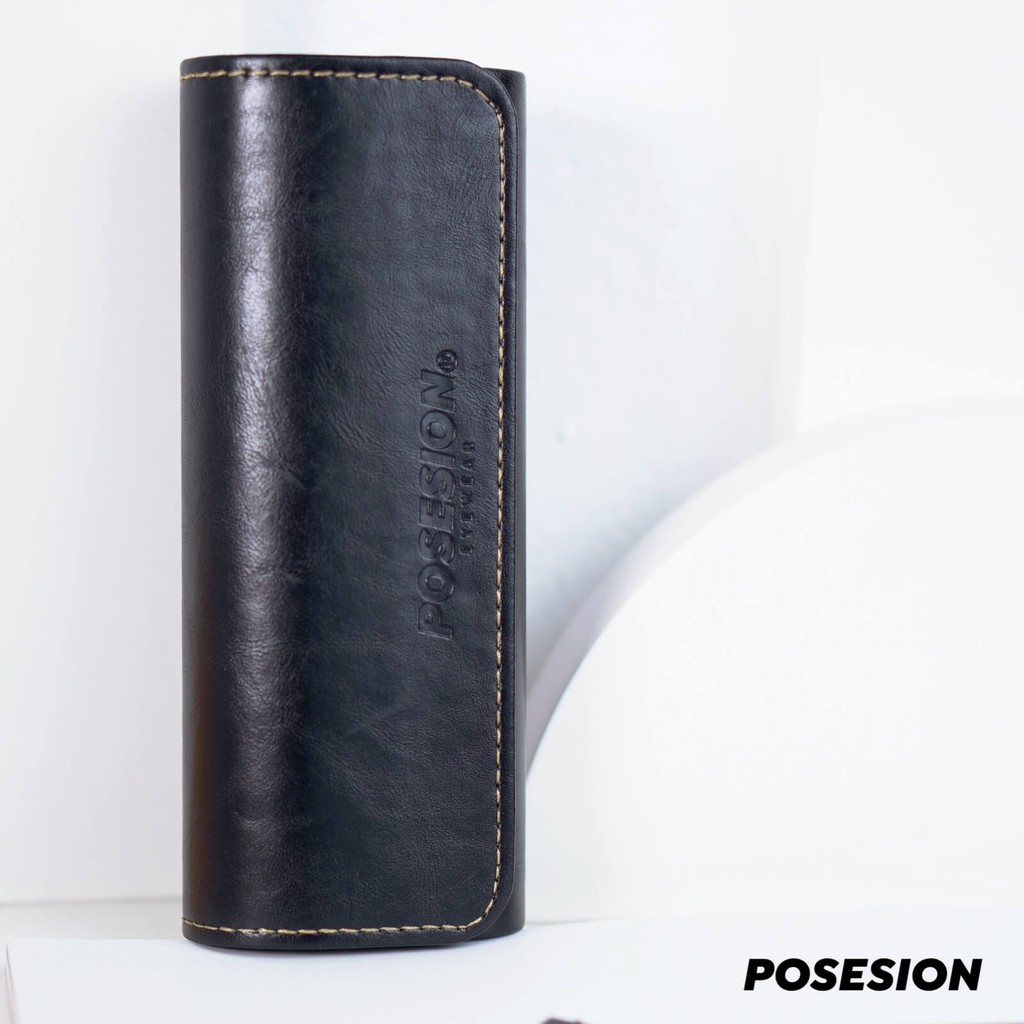 Hộp đựng kính mắt Posesion cao cấp hộp da đựng kính handmade