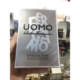Nước hoa nam Uomo Salvatore Ferragamo Casual Life 100ml full seal thumbnail