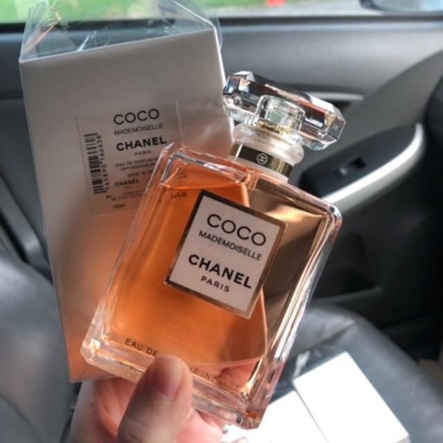 น้ำหอมแท้ Coco chanel mademoiselle edp รุ่น intense 100ml. กล่องเทส