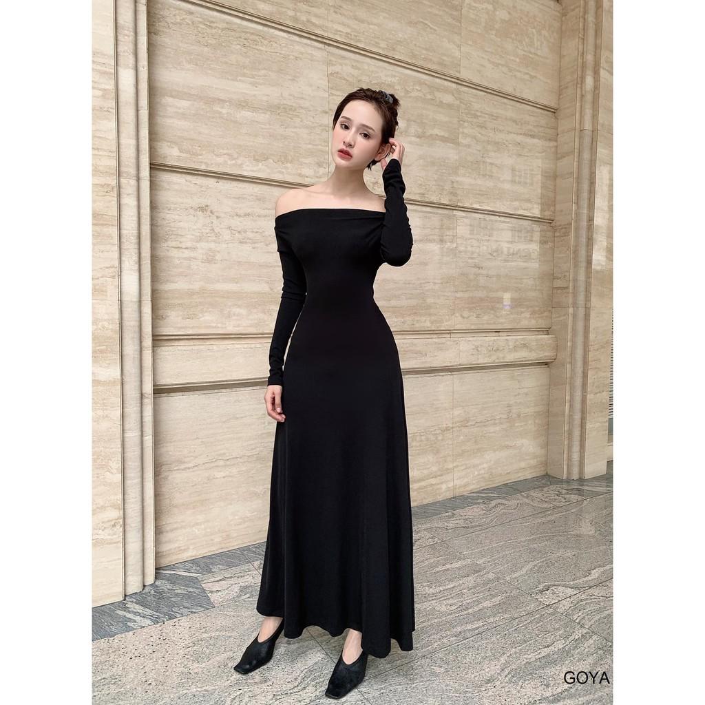 Mặc gì đẹp: Xinh đẹp với NAPUBEE Đầm Dự Tiệc Sang Trọng Ôm Body Sexy Thiết Kế Cut-out, Váy Maxi Midi Dáng Dài Khoét Lưng Mặc 2 Kiểu GOYA DRESS