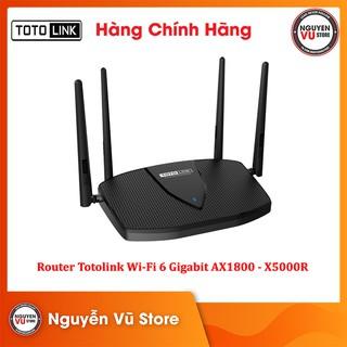 Router Totolink Wi-Fi 6 băng tần kép Gigabit AX1800 - X5000R - Hàng Chính Hãng thumbnail