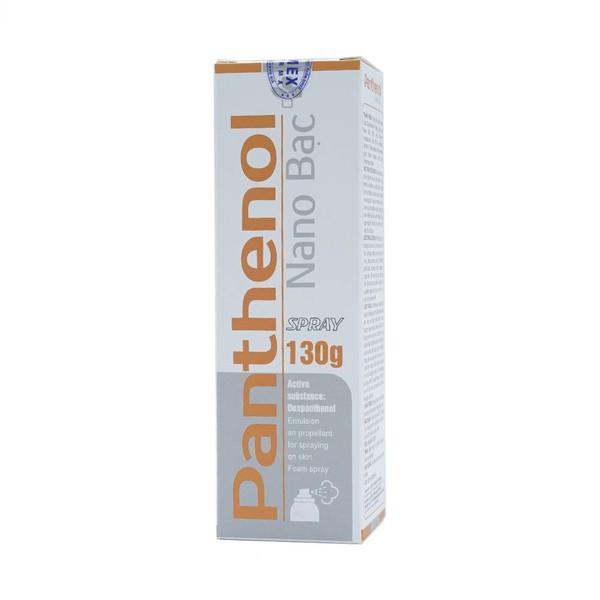 Chai xịt bỏng Panthenol Nano bạc 130g