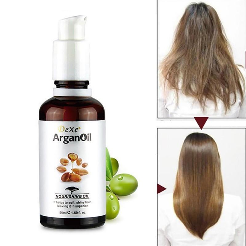 [Hàng mới về] Chai tinh chất 50ml dưỡng tóc xoăn thành thẳng tự nhiên chất lượng cao