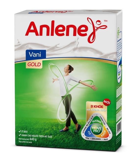 Sữa bột Anlene Gold Movepro Hộp 440g (Vani (trên 40 tuổi))