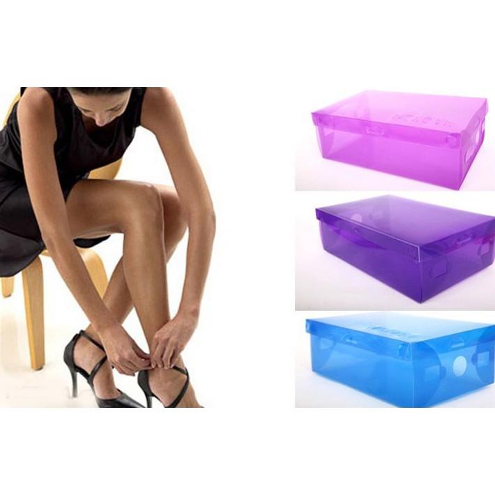 Combo 6 hộp đựng giầy nhựa dẻo plastic