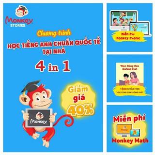 Monkey stories – Gói 1 năm – Học tiếng Anh bằng truyện tranh tương tác cho bé từ 2 đến 15 tuổi -Tặng 3 tháng Monkey Math