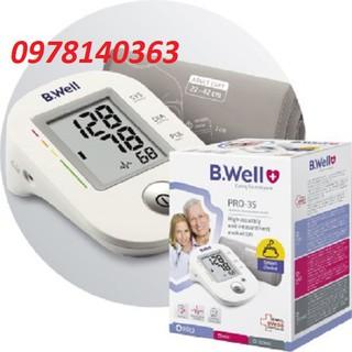 Máy đo huyết áp bắp tay B.WELL PRO-35 - Nhập khẩu chính hãng - Bảo hành 5 năm (1 đổi 1)