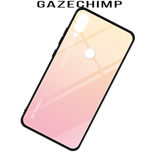 [GAZECHIMP] Anti-scratch Gradient Color Tinted Glass Protective Case For Xiaomi Redmi Note7 Smart Phone