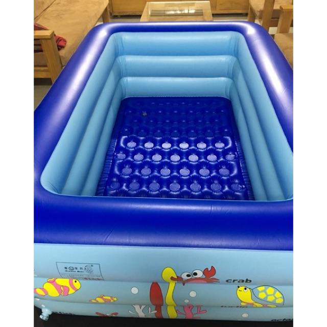 Combo bể bơi Summer Baby to 1m80+phao tập bơi đỡ cổ + bơm điện