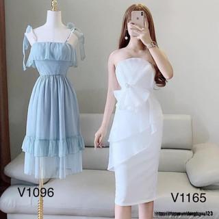 Đầm dáng ôm body dự tiệc trắng tinh khôi V1165 Mie Design