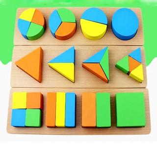 [Follow Shop] Đồ Chơi Giáo Dục Cho Trẻ Bộ Xếp Và Nhận Biết Các Hình Khối Giáo Cụ Montessori