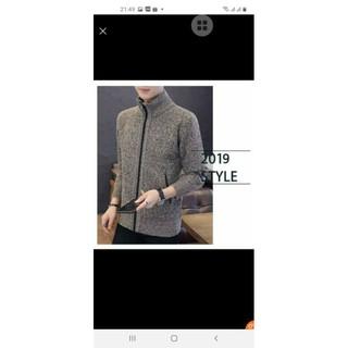áo khoác len nam ❤FREESHIP❤size xl màu xanh số 2 cho người 70kg. chất liệu len tổng hợp bên trong lót nỉ