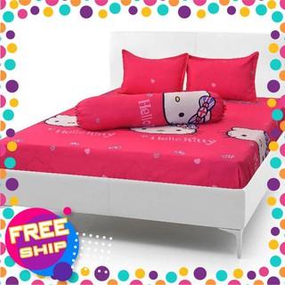 Bộ drap giường coton nhung Hello Kitty (chọn mẫu) thumbnail