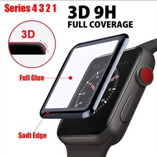 Kính cường lực 3D cho Apple Watch Series 1 2 3 4 5 Bảo vệ màn hình Phim bảo vệ cho iwatch 44mm 40mm 38mm 42 mm