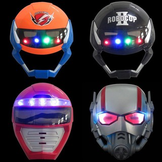 Cartoon Full Facial Masks Kids LED Power Rangers Mask Robocop Ant-Man Toy Gift