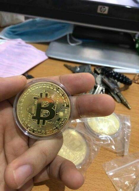 Đồng xu bitcoin mạ vàng giá sỉ
