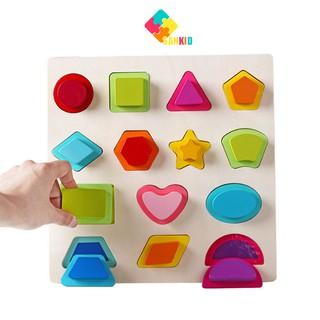 Bảng học hình khối nổi 2 tầng