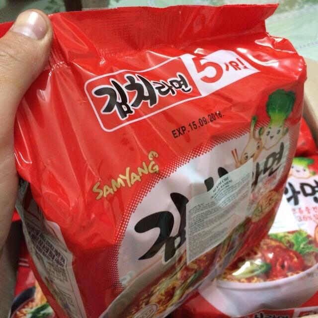 |Lốc Mỳ Hàn| Mỳ SamYang Nước Kimchi Cay 600g(5 gói x120g)