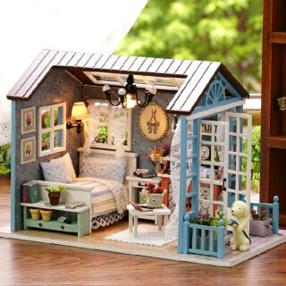 Kèm mica – Mô hình nhà gỗ búp bê dollhouse DIY – Z007 Forest Time