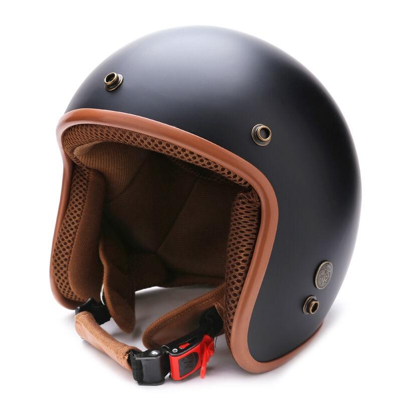 Mũ bảo hiểm 3/4 NTMax MP123 (Đen Nâu )