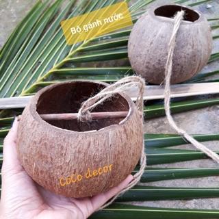 Combo bộ gánh nước và gáo múc nước gáo dừa