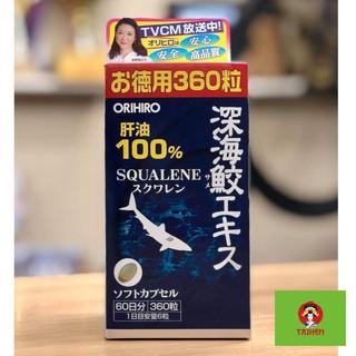 Viên Uống Sụn Vi Cá Mập Orihiro Squalene Nhật Bản , Dầu Gan Cá Mập Orihiro Deep sea Shark liver oil extract Cap Nhật Bản