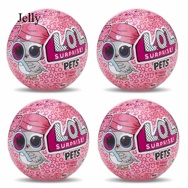 4 Pcs Surprise Doll Egg Ball Pets Series Colorful Light Christmas Gift Toy J56