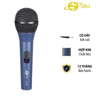 Micro karaoke có dây JSJ GL-9.0S thiết kế lưới tản nhiệt cổ điển, giảm tạp âm, chống nhiễu, thân kim loại được phủ nhám