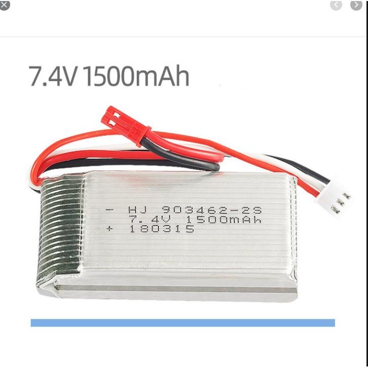 Pin 7.4v 1500mah JST Pin sạc đồ chơi điều khiển có mạch