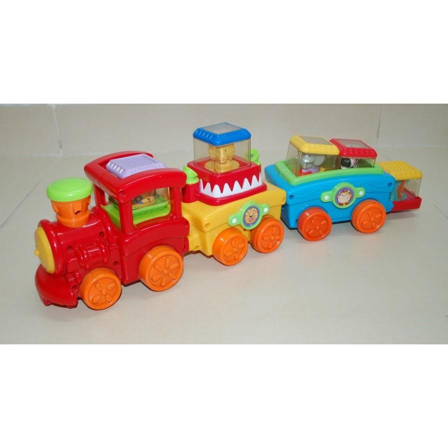 ĐỒ CHƠI THÔNG MINH: Xe lửa chạy nhạc đèn vui nhộn Fisher Price