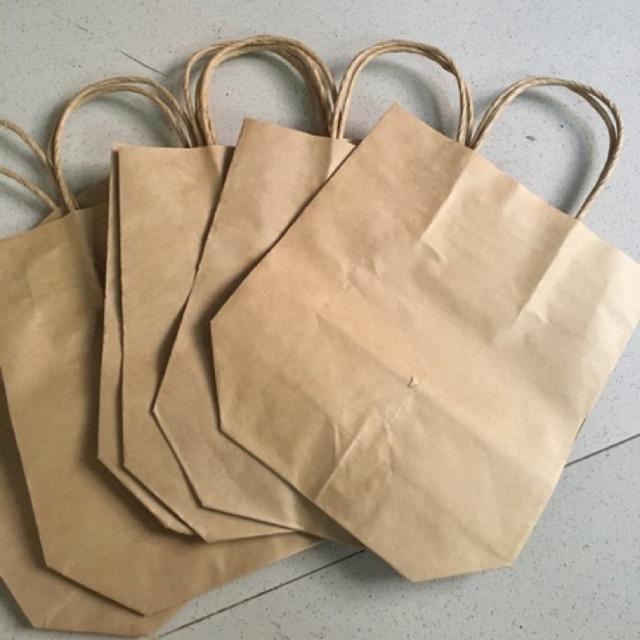Combo 50 túi giấy xi măng có quai loại 17x20