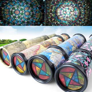 WX_Rotatable Kaleidoscope Kids Children Educational Science Toy Birthday Gifts