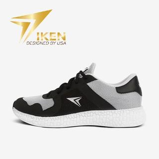 Giày Thể Thao IKEN HERO xám đen logo bạc thumbnail