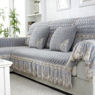 Vỏ Bọc Đệm Ghế sofa Mùa Đông Bằng Vải Bông Ngắn Không Trượt Hiện Đại Đơn Giản Phong Cách Châu Âu