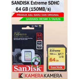 Thẻ Nhớ 64gb 150mbs Sandisk Sdxc Extreme 4k Cho Máy Ảnh Gopro