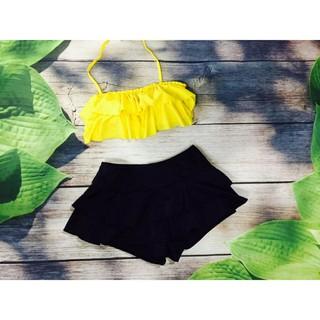 Đồ bơi nữ bikini bèo vàng nữ tính sexy đẹp mặc đi biển đi bơi ( Đảm bảo 100% như hình)