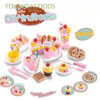 🍊37pcs/54pcs/75pcs Christmas Gift Creative Kids Plastic Classic Kitchen Cutting Toy