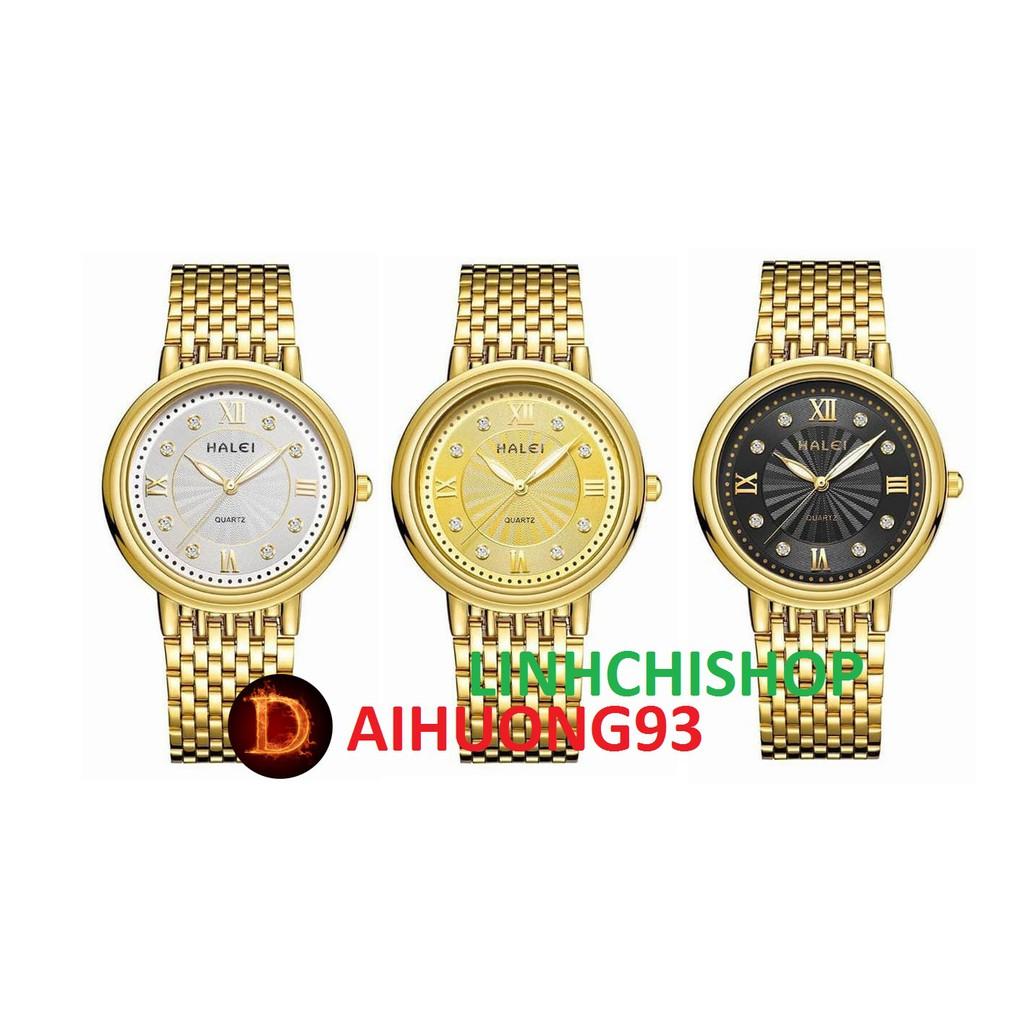 Đồng hồ nam Halei mã 494 vàng kim cực chất (có size nữ)