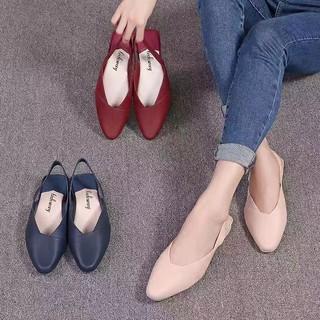 2K03 Sandal quai hậu gót vuông thời trang giầy dép thể thao nữ đế cao su đi làm đi chơi trong nhà êm chân
