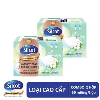 [HOT SALE] Bộ 2 hộp Bông trang điểm (bông tẩy trang) cao cấp Silcot Premium 66 miếng hộp thumbnail