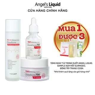 Bộ 3 sản phẩm Nước thần, Serum, Kem dưỡng Angel Liquid Whitening Program Glutathione dưỡng trắng, dưỡng ẩm cho da thumbnail