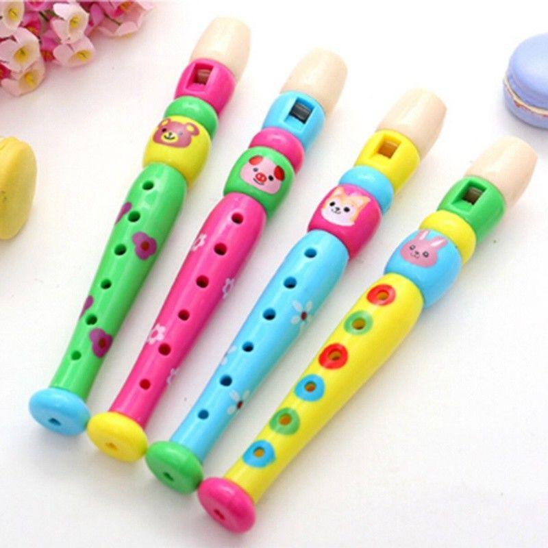 Children Toys Plastic Musical Instrument Recorder Long Flute 6 Holes Educational