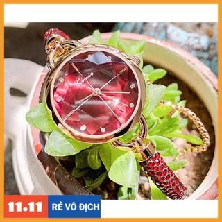 [Hàng chính hãng] Đồng hồ nữ Kimio 6328 dây đính đá siêu xịn