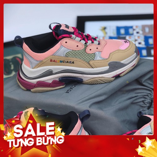 [ẢNH THẬT] Giày BALENCIOGA TRIP S màu hồng c