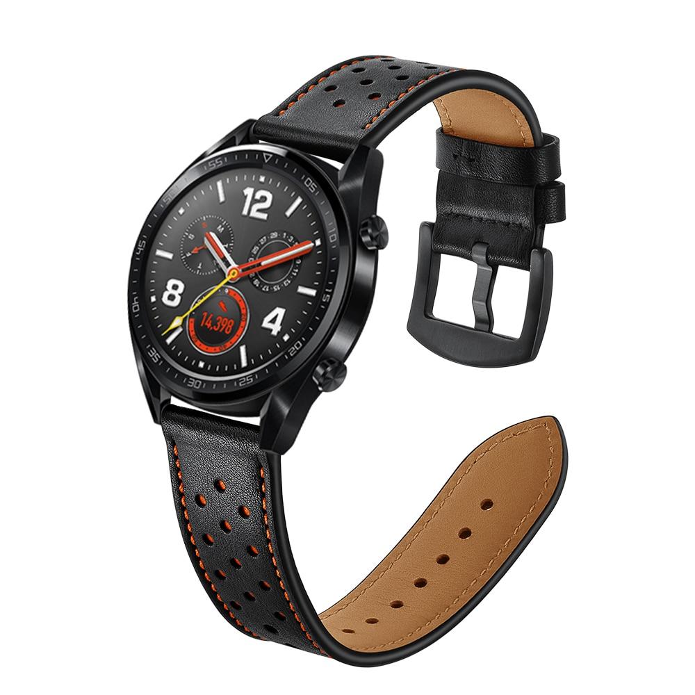 Dây Đeo Bằng Da Thật 22mm Cho Đồng Hồ Samsung Galaxy Watch 3 46mm Correa Gear S3 Amazfit Bip Huawei Watch Gt 2